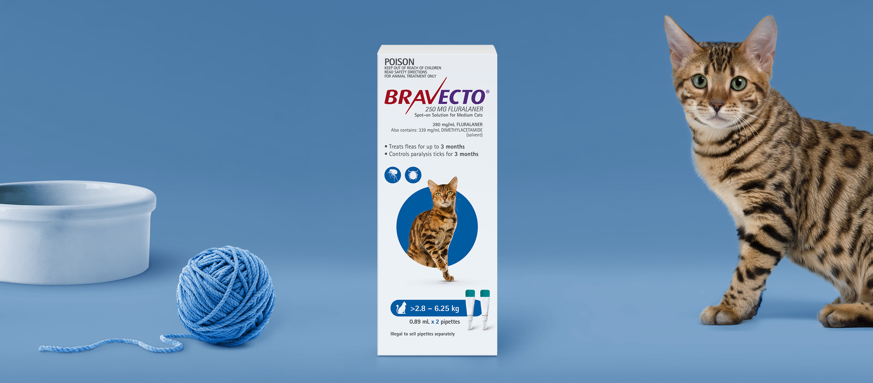 Bravecto Spot On For Cats 2.8 - 6.25 kg