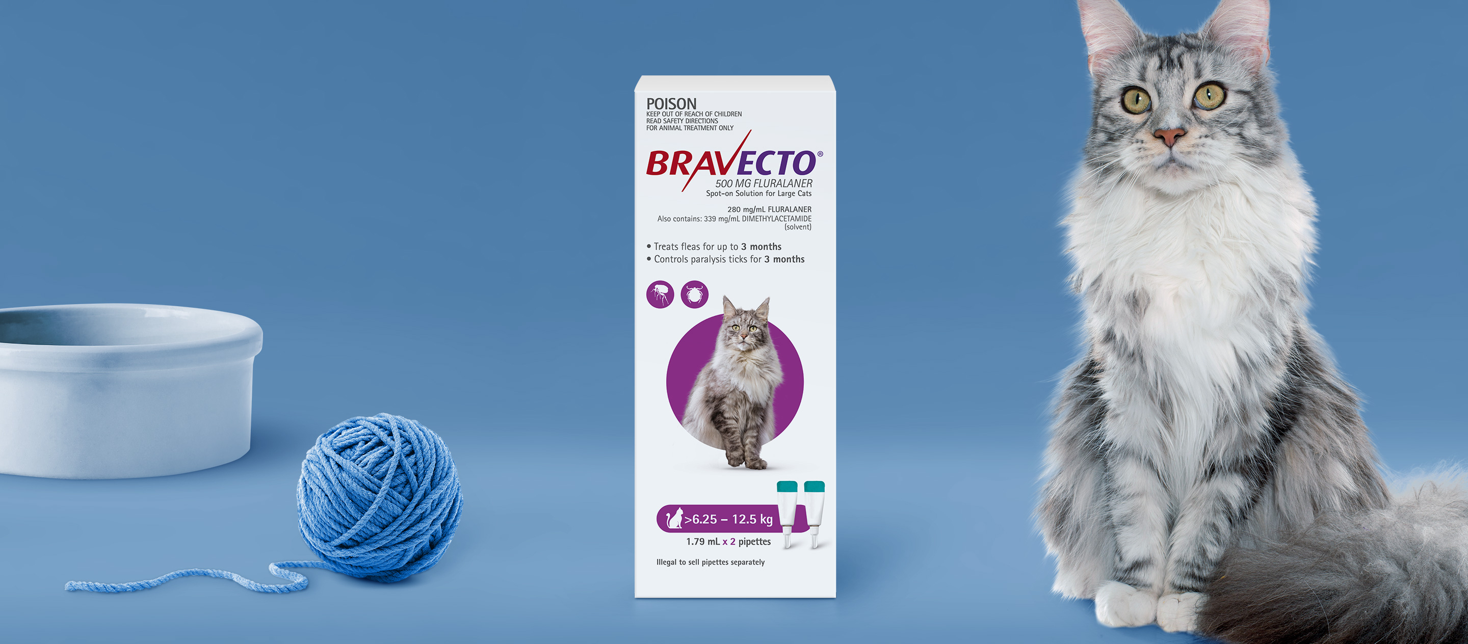 Bravecto Spot On For Cats 6.25 - 12.5 kg